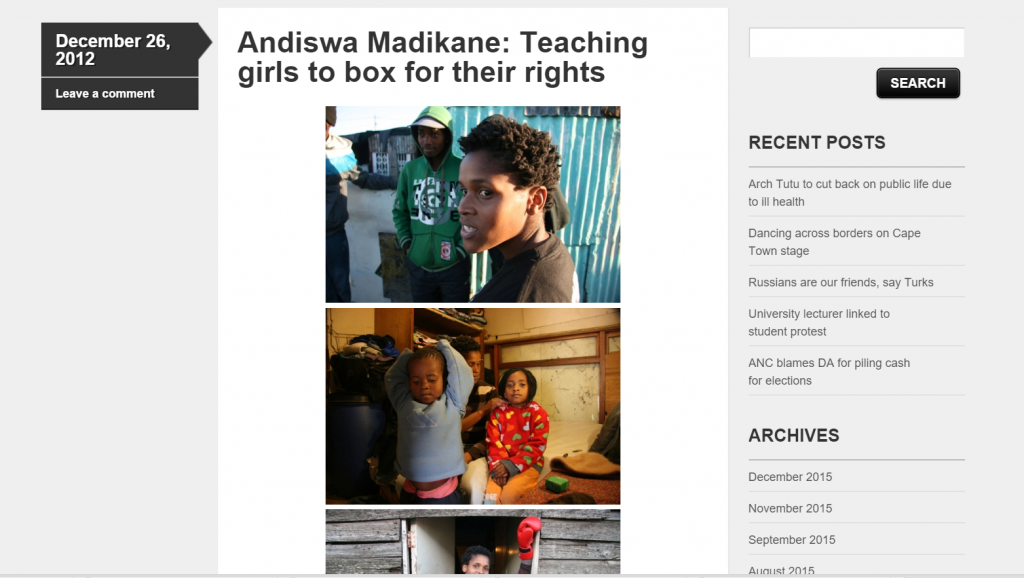Andiswa blog article